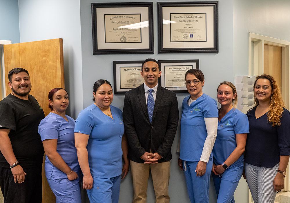 Amit Sood DMD, MD with Dental Staff